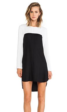 May. Practice Dress in White & Black