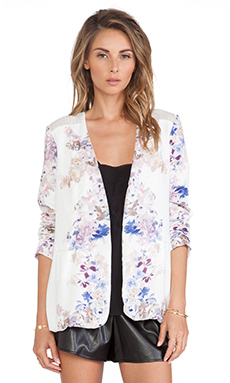 May. Holly Mesh Blazer in Mirrored Print