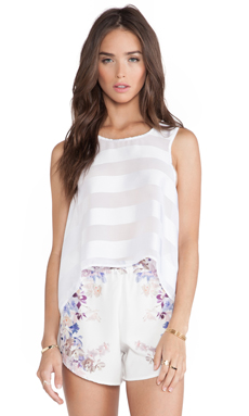 May. Oleander Shift Tank in White