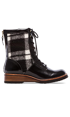 Matt Bernson Windsor Lace Up Boot in Black & White