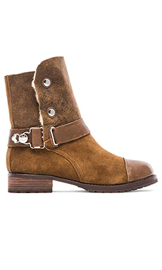 Matt Bernson Tundra Boot with Sheep Shearling lining in Bark & Cream