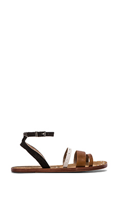 Matt Bernson Isle Sandal in Black & White & Cognac