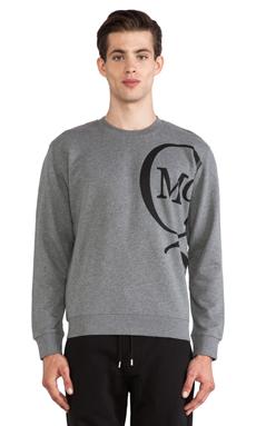McQ Alexander McQueen McQ Crew Neck in Grey Melange