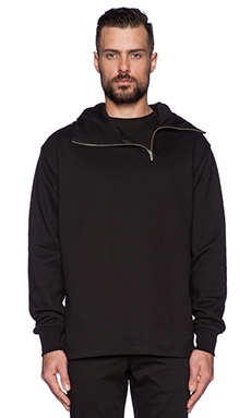 McQ Alexander McQueen Zip Hoodie in Darkest Black