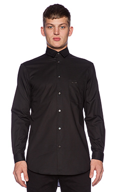 McQ Alexander McQueen Long Pocket Shirt in Darkest Black