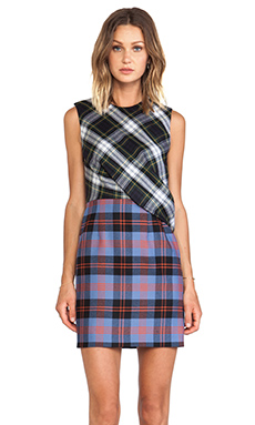 McQ Alexander McQueen Drape Top Dress in Rupert