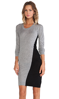 McQ Alexander McQueen Colorblock Dress in Grey/Black