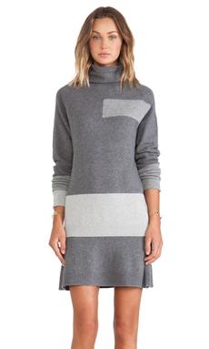 McQ Alexander McQueen Flirty Dress in Grey Melange