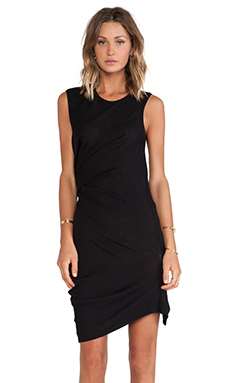 McQ Alexander McQueen T-Bend Dress in Black