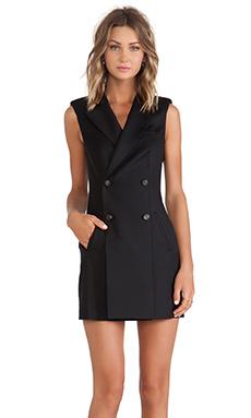 McQ Alexander McQueen Tuxedo Dress in Black