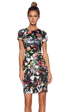 McQ Alexander McQueen Long Bodycon Dress in Festival Floral