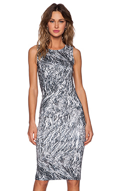 McQ Alexander McQueen Long Tank Dress in Silver