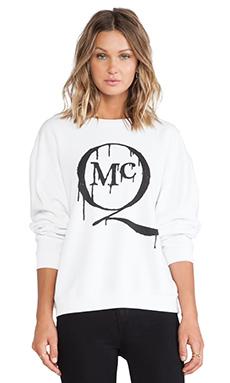 McQ Alexander McQueen McQ Logo Classic Sweater in Optic White