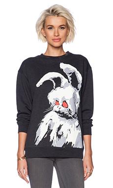 McQ Alexander McQueen Angry Bunny Sweater in Dark Grey Melange