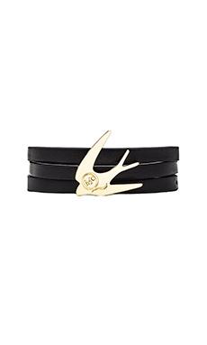 McQ Alexander McQueen Swallow Triple Bracelet in Black