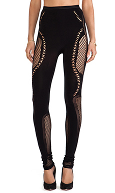 McQ Alexander McQueen Mesh Leggings in Black
