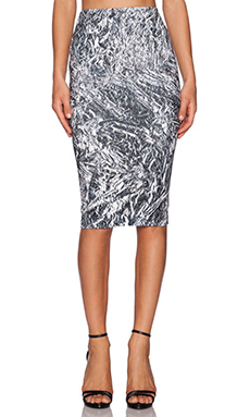 McQ Alexander McQueen Contour Skirt in Silver