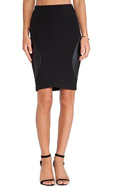 McQ Alexander McQueen Engineered Skirt in Black
