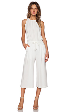 McQ Alexander McQueen Pleat Front Jumpsuit in Ivory