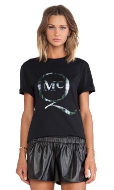 McQ Alexander McQueen Stitch Tartan Boyfriend T-Shirt in Black