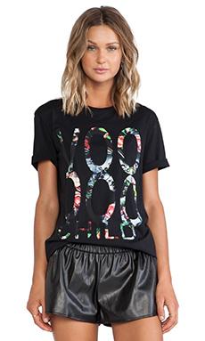 McQ Alexander McQueen Boyfriend T-Shirt in Darkest Black