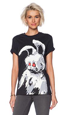 McQ Alexander McQueen Angry Bunny Tee in Dark Grey Melange
