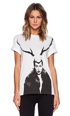 McQ Alexander McQueen Boyfriend T-Shirt in Optic White