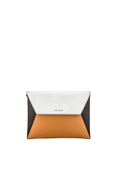 McQ Alexander McQueen Willow Envelope Cross Body in Caramel & Silver