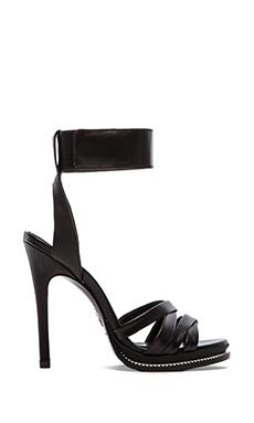 McQ Alexander McQueen Mini Criss Cross Heel in Black