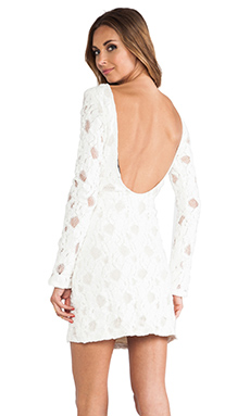 MERRITT CHARLES Chloe Dress in Textured White Lace