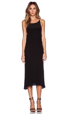 MERRITT CHARLES Madam High Neck Dress in Black
