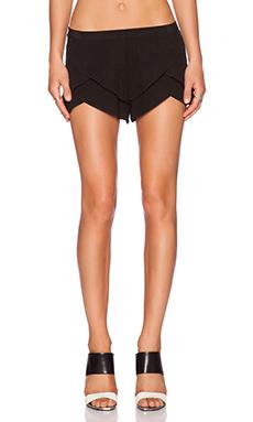 MERRITT CHARLES Natalia Tiered Shorts in Black