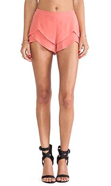 MERRITT CHARLES Natalia Tiered Shorts in Coral