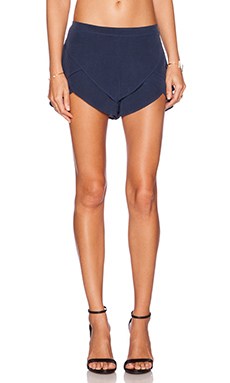 MERRITT CHARLES Natalia Tiered Shorts in Navy