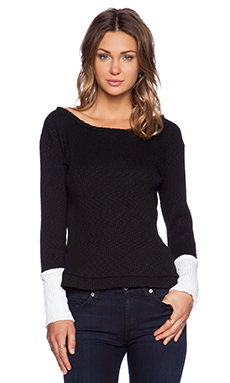 MERRITT CHARLES Ashton Sweater in Black & White