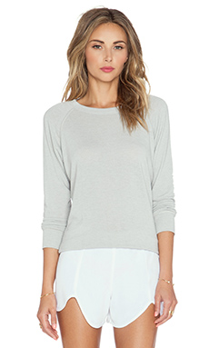 MERRITT CHARLES Conrad Brushed Sweater in Light Grey