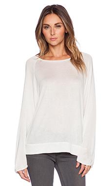 MERRITT CHARLES Collette Raw Finish Sweater in White