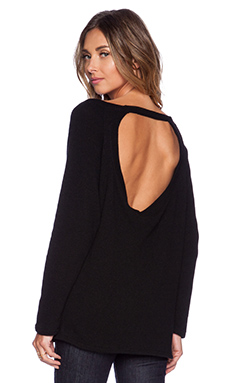 MERRITT CHARLES Ranger Open Cut Out Sweater in Black