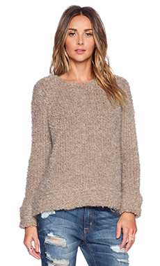 MERRITT CHARLES Teddy Knit in Tan