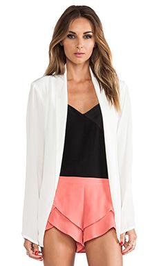 MERRITT CHARLES Ford Silk Blazer in White