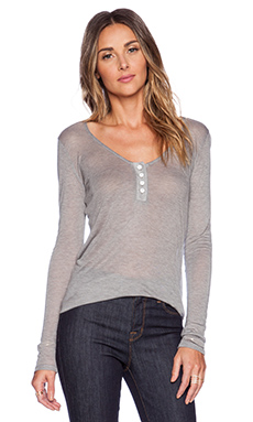 MERRITT CHARLES Sierra Long Sleeve Shirt in Heathered Grey