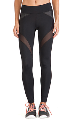 MICHI Illusion Legging in Black & Black Denim