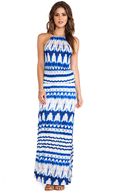 Michael Stars Double Slit Maxi Dress in Crest