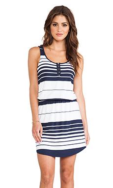 Michael Stars Jenna Sleeveless Dress in Ship & White