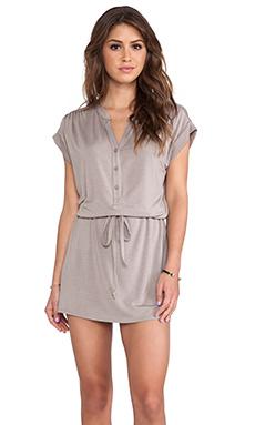 Michael Stars Amelia Shirt Dress in Taupe