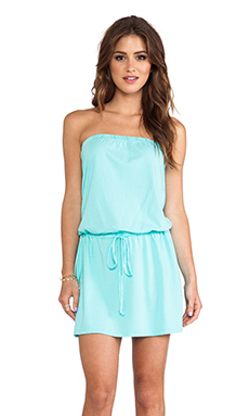 Michael Stars Strapless Tie Waist Dress in Aruba