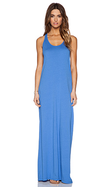 Michael Stars Twist Back Maxi Dress in Blue Ribbon