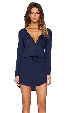 Michael Stars Long Sleeve Shirt Dress in Passport