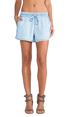 Michael Stars Drawstring Waist Shorts in Vintage Chambray