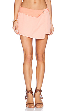 Michael Stars Asymmetrical Wrap Skort in Bellini
